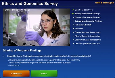 example image from the Ethics and Genomics Survey